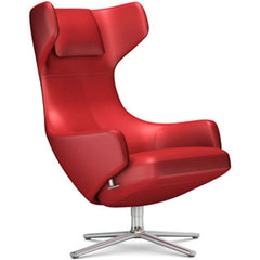 Grand Repos Lounge Chair lounge chair Vitra Polished 18.1-Inch Leather Contrast - Red - 70 +$730.00