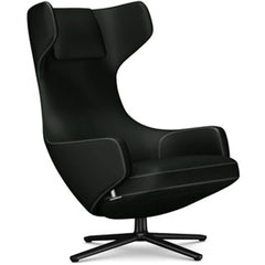 Grand Repos Lounge Chair lounge chair Vitra Basic Dark 16.1-Inch Cosy Contrast - Merino Black - 11