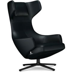 Grand Repos Lounge Chair lounge chair Vitra Basic Dark 16.1-Inch Leather Contrast - Nero - 66 +$730.00