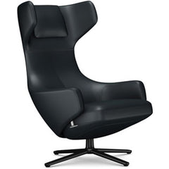 Grand Repos Lounge Chair lounge chair Vitra Basic Dark 16.1-Inch Leather Contrast - Asphalt - 67 +$730.00