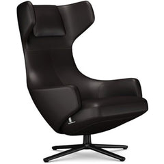 Grand Repos Lounge Chair lounge chair Vitra Basic Dark 16.1-Inch Leather Contrast - Chocolate - 68 +$730.00