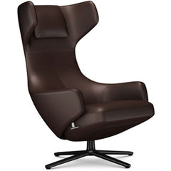 Grand Repos Lounge Chair lounge chair Vitra Basic Dark 16.1-Inch Leather Contrast - Marron - 69 +$730.00