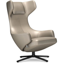 Grand Repos Lounge Chair lounge chair Vitra Basic Dark 16.1-Inch Leather Contrast - Sand - 71 +$730.00
