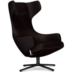 Grand Repos Lounge Chair lounge chair Vitra Basic Dark 18.1-Inch Cosy Contrast - Dark Aubergine - 06