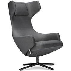 Grand Repos Lounge Chair lounge chair Vitra Basic Dark 18.1-Inch Cosy Contrast - Classic Grey - 10