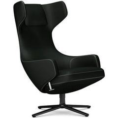 Grand Repos Lounge Chair lounge chair Vitra Basic Dark 18.1-Inch Cosy Contrast - Merino Black - 11