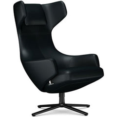 Grand Repos Lounge Chair lounge chair Vitra Basic Dark 18.1-Inch Leather Contrast - Nero - 66 +$730.00