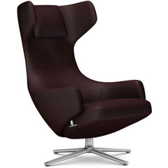 Grand Repos Lounge Chair lounge chair Vitra Polished 16.1-Inch Cosy Contrast - Aubergine - 05