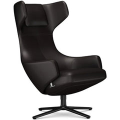 Grand Repos Lounge Chair lounge chair Vitra Basic Dark 18.1-Inch Leather Contrast - Chocolate - 68 +$730.00