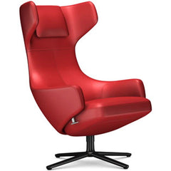 Grand Repos Lounge Chair lounge chair Vitra Basic Dark 18.1-Inch Leather Contrast - Red - 70 +$730.00