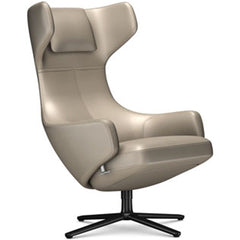 Grand Repos Lounge Chair lounge chair Vitra Basic Dark 18.1-Inch Leather Contrast - Sand - 71 +$730.00