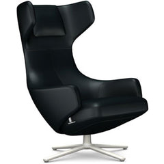 Grand Repos Lounge Chair lounge chair Vitra Soft Light 16.1-Inch Leather Contrast - Nero - 66 +$730.00