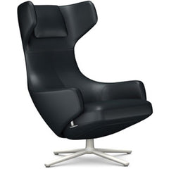Grand Repos Lounge Chair lounge chair Vitra Soft Light 16.1-Inch Leather Contrast - Asphalt - 67 +$730.00