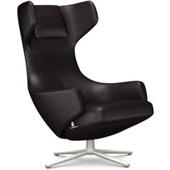 Grand Repos Lounge Chair lounge chair Vitra Soft Light 16.1-Inch Leather Contrast - Chocolate - 68 +$730.00