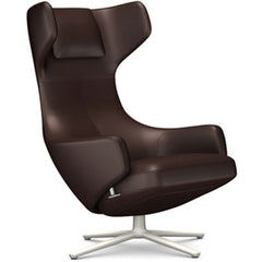 Grand Repos Lounge Chair lounge chair Vitra Soft Light 16.1-Inch Leather Contrast - Marron - 69 +$730.00