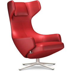 Grand Repos Lounge Chair lounge chair Vitra Soft Light 16.1-Inch Leather Contrast - Red - 70 +$730.00