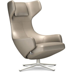 Grand Repos Lounge Chair lounge chair Vitra Soft Light 16.1-Inch Leather Contrast - Sand - 71 +$730.00