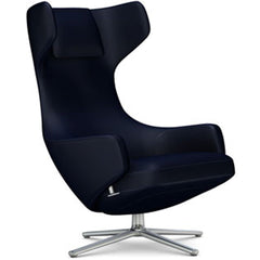 Grand Repos Lounge Chair lounge chair Vitra Polished 16.1-Inch Cosy Contrast - Night Blue - 09