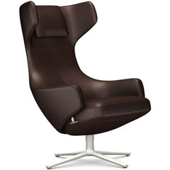 Grand Repos Lounge Chair lounge chair Vitra Soft Light 18.1-Inch Leather Contrast - Marron - 69 +$730.00