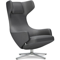 Grand Repos Lounge Chair lounge chair Vitra Polished 16.1-Inch Cosy Contrast - Classic Grey - 10