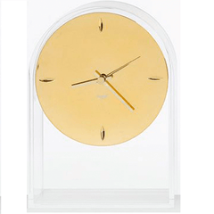 Air Du Temps Clock Metal clock Kartell Crystal Gold