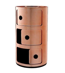 Componibili 3 Elements Accessories Kartell Metallic Copper