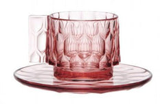 Jellies Espresso Cup & Saucer Set of 4 Coffee Kartell Pink