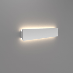 "Lineacurve LED Wall/Ceiling Light wall / ceiling lamps Artemide 24"" Dual Anthracite Grey 3000K-80 CRI"