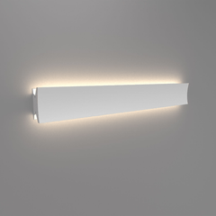 "Lineacurve LED Wall/Ceiling Light wall / ceiling lamps Artemide 36"" Dual Anthracite Grey 3000K-80 CRI"