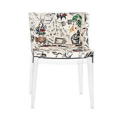 Mademoiselle Side/Dining Kartell Moschino-Sketches Transparent