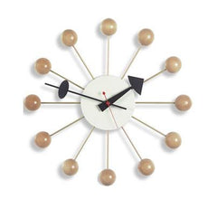 nelson ball clock - natural beech