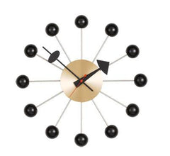 nelson ball clock - black/brass