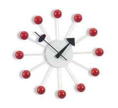 Nelson Ball Clock - Red Clocks Vitra