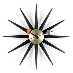 nelson sunburst clock black