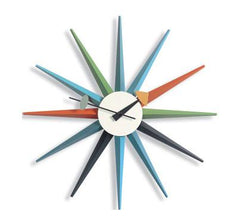 Nelson Sunburst Clock Multi-Color