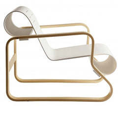 Paimio Armchair 41 lounge chair Artek Natural Lacquered Arms - White Lacquered Seat