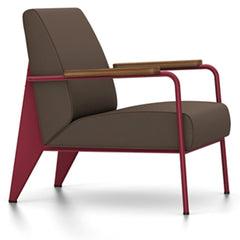 Prouve Fauteuil De Salon Lounge Chair lounge chair Vitra Japanese red Oiled American Walnut Twill-brown