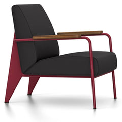 Prouve Fauteuil De Salon Lounge Chair lounge chair Vitra Japanese red Oiled American Walnut Twill-dark grey