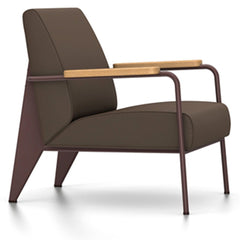 Prouve Fauteuil De Salon Lounge Chair lounge chair Vitra Chocolate Oiled Natural Oak Twill-brown