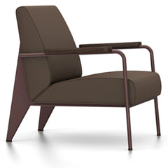 Prouve Fauteuil De Salon Lounge Chair lounge chair Vitra Chocolate Oiled Smoked Oak Twill-brown