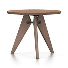 Prouvé Quéridon Table Dining Tables Vitra 35.5''- Dia American Walnut