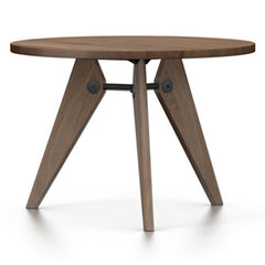 Prouvé Quéridon Table Dining Tables Vitra 41.25''- Dia. American Walnut