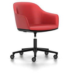 Softshell Chair - Task Chair task chair Vitra powder-coat basic dark Vitra leather - red hard casters - unbraked (std)