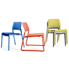 Spark Stacking Side Chair with Seat Pad Side/Dining Knoll