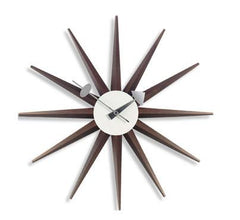 Nelson Sunburst Clock Walnut