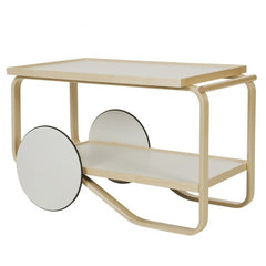 Tea Trolley 901 Carts / Trolleys Artek White Laminate