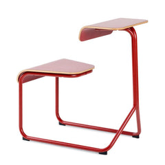 Toboggan Chair Desk office Knoll Dark Red with accent laminate top + $81.00