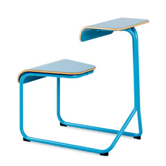 Toboggan Chair Desk office Knoll Slate Blue with accent laminate top + $81.00