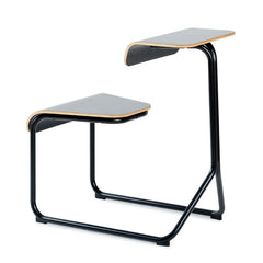 Toboggan Chair Desk office Knoll Jet Black with painted top