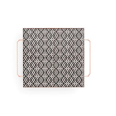 Gan Mix&Match Square Tray 40x40 Black&White